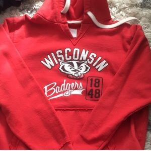 Wisconsin badgers hooded sweater